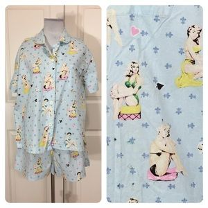 """PJ salvage """"pin up"""" girls pajamas"""